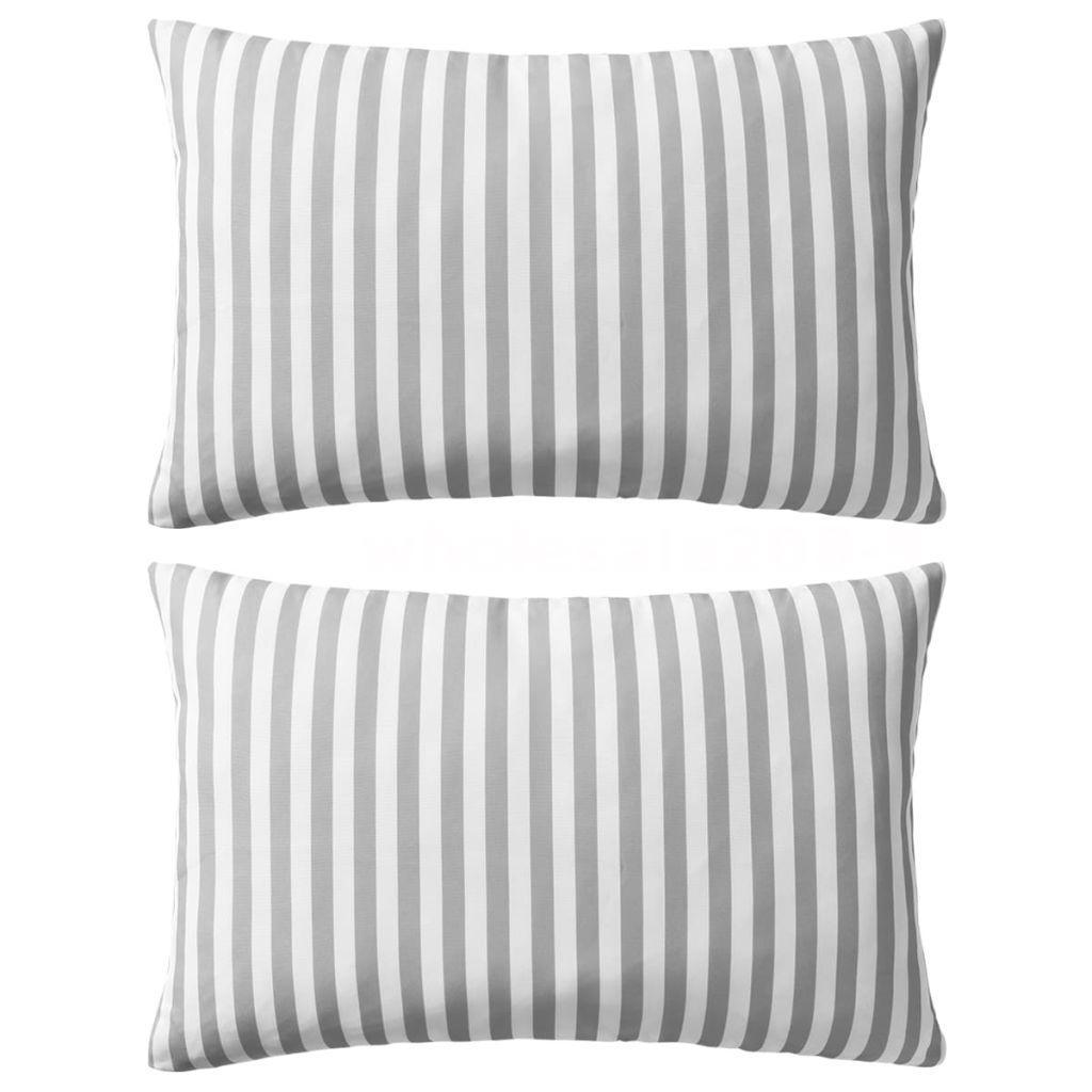 Cuscini Da Esterno Impermeabili dettagli su cuscini da esterno 2 pz stampa a righe 60x40 cm grigi e0c7
