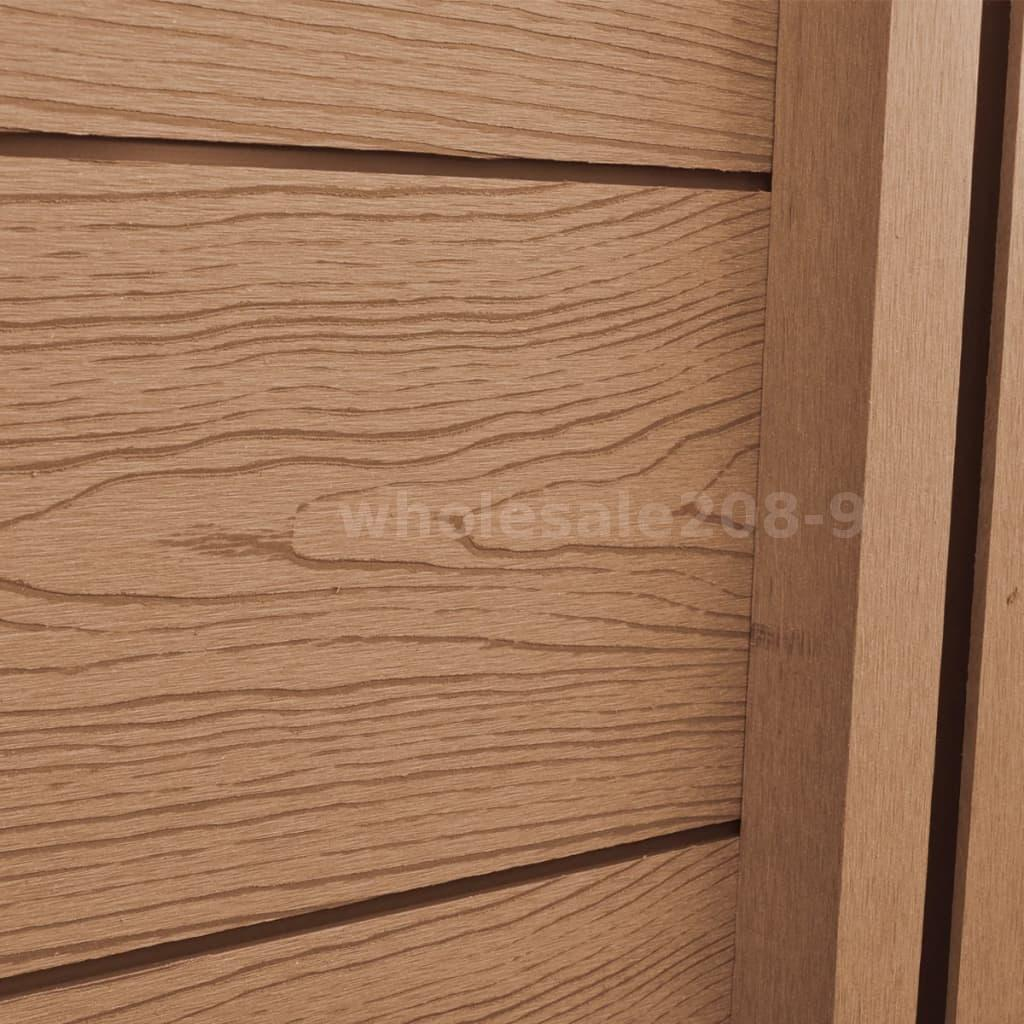 Recinzioni Per Giardino In Legno.Pannello Recinzione Per Giardino Inclinato In Wpc Marrone X3u9 Ebay